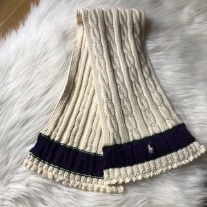 NWOT Ralph Lauren Polo Cable Knit Scarf
